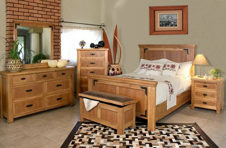 Sierra Rustic Lodge Bedroom Set